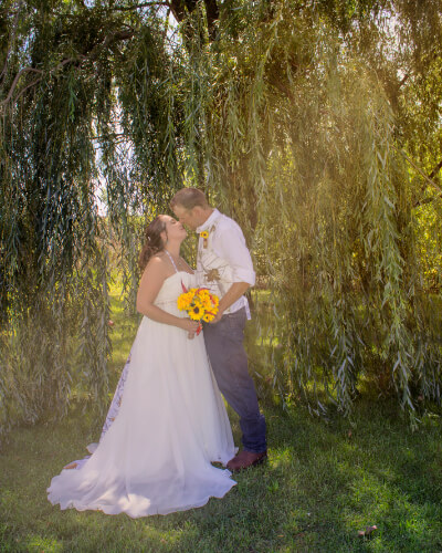 Outdoor wedding photography in central Illinois.